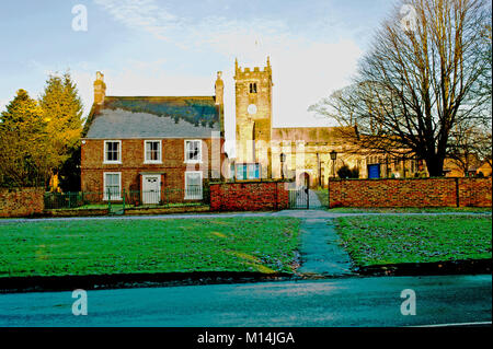 Country House and all Hallows Church, Sutton on the Forest, North Yorkshire - Stock Photo
