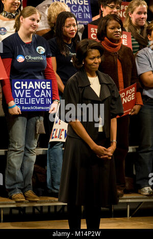 A campaign rally in Columbia, South Carolina, for then Senator, and candidate for President of the United States, - Stock Photo
