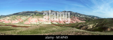 Hilly mountains in the valley, mountain landscape - Stock Photo