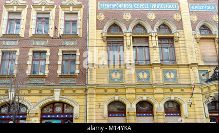 The Capital City's Shoemakers Guild, built in 1905 in Budapest Hungary EU Europe - Stock Photo