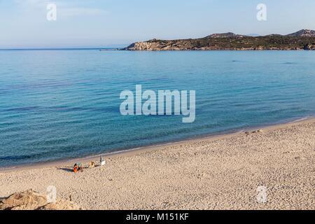 Italy, Sardinia, Province of Olbia-Tempio, Santa Teresa di Gallura, on the municipality of Aglientu the beach of - Stock Photo