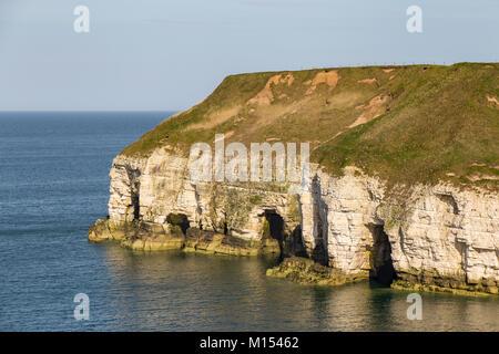 Yorkshire coast at Thornwick Bay near Bridlington, East Riding of Yorkshire, UK - Stock Photo