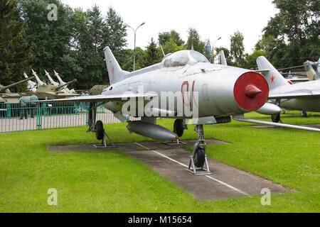 Soviet historical MiG-17 at the Central Museum of Armed forces - Stock Photo