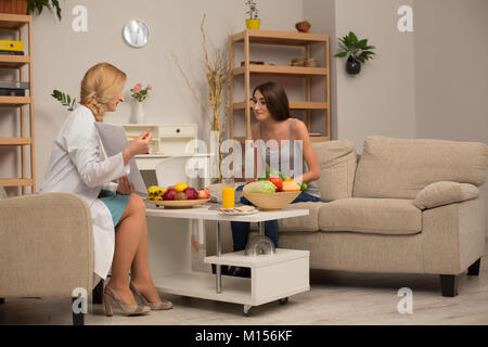 Proffessional dietitian consultation - Stock Photo