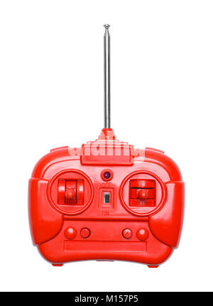 Red Radio Control Remote Isolated on a White Background. - Stock Photo