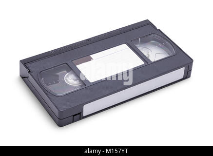 New VHS Tape with Copy Space Isolated on a White Background. - Stock Photo