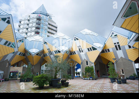 Rotterdam cube house in Blaak district - Stock Photo