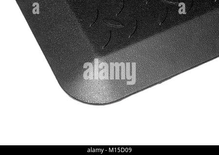 Black Rubber Mat bottom-up. - Stock Photo