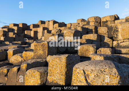 The Giant's Causeway is an area of about 40,000 interlocking basalt columns, the result of an ancient volcanic eruption. It is located in County Antri