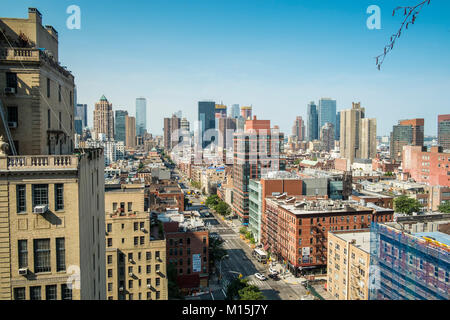 A view from a roof top somewhere on West 5th Street and 9th Avenue. - Stock Photo