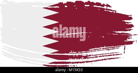 Qatar flag, vector illustration - Stock Photo