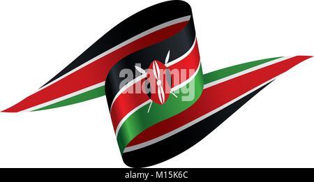 Kenya flag, vector illustration - Stock Photo