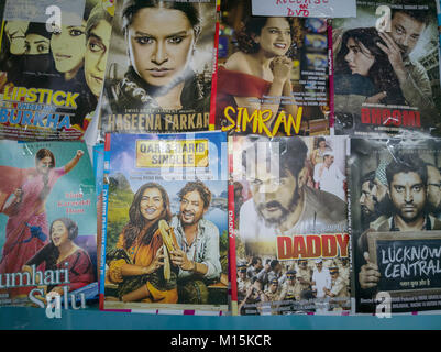 Bollywood movie DVDs for sale in Hong Kong market - Stock Photo