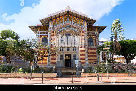 The Schoelcher library., Fort de France city, Martinique island, French West Indies. - Stock Photo