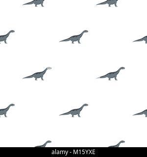 Grey titanosaurus dinosaur pattern seamless - Stock Photo