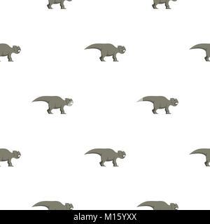 Grey ceratopsians dinosaur pattern seamless - Stock Photo