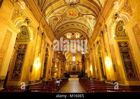 Inside view of the Cathedral Nuestra Señora de la Asunción,Cordoba,Province of Cordoba,Argentina - Stock Photo