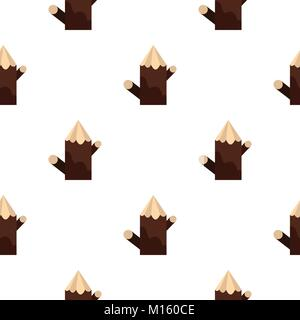 Pointed woden stump pattern seamless - Stock Photo
