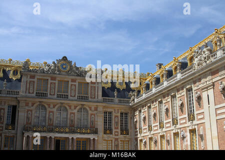 The Marble Court of the Versailles Palace, Ile-de-France, France. - Stock Photo