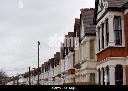 Burdett Avenue in Westcliff on Sea, Essex, UK - Stock Photo