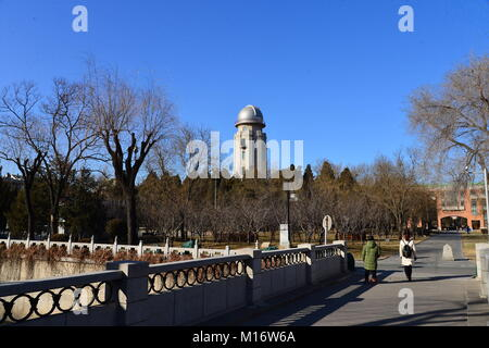 Beijin, Beijin, China. 26th Jan, 2018. Beijing, CHINA-26th January 2018: Tsinghua University is a research university - Stock Photo