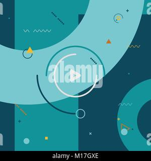 Geometric shapes in style motion design color background. Element for motion design background concept. Vector illustration - Stock Photo