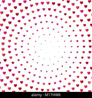 Heart halftone color background. Valentines day and marriage invitation card, romance and love. Vector illustration - Stock Photo