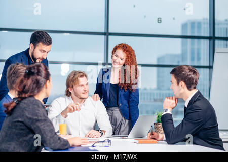 Business man making presentation at office - Stock Photo
