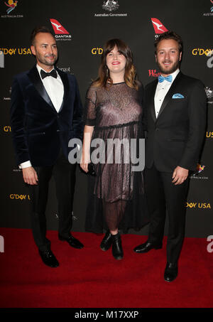LOS ANGELES, CA - JANUARY 27: Guests, at the 2018 G'Day USA Black Tie Gala at the Intercontinental Downtown Los - Stock Photo