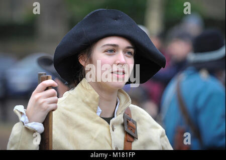 London, UK.  28 January 2018.  Members of The English Civil War Society, one of the oldest re-enactment groups in - Stock Photo