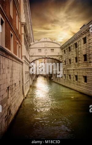 Bridge of Sighs Venice, Italy - Stock Photo
