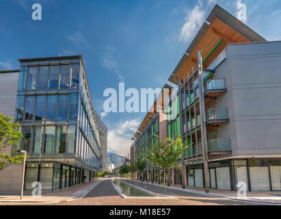 Viale della Constituzione in Le Albere, 2013, mixed-use district, location of MUSE Museo delle Scienze, planned - Stock Photo