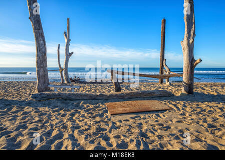 Wooden structure at San Onofre State Beach. San Clemente, California, USA. - Stock Photo