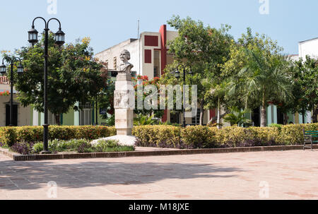 Holguin, Cuba- August 31, 2017:  Statue of Carlos Manuel de Céspedes - Stock Photo