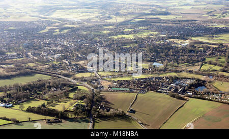 aerial view of Ripon, a North Yorkshire city, UK - Stock Photo