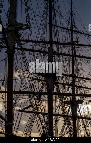 The Kaskelot tall ship moored at Millennium Square Landing, Bristol, UK - Stock Photo