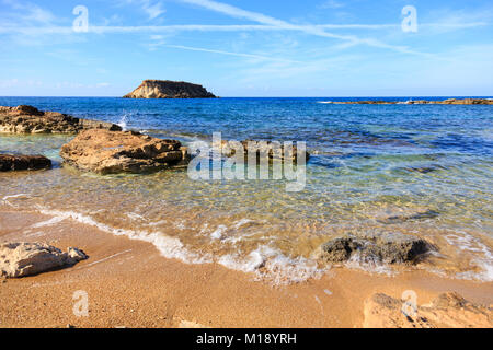 Agios Geronisos island on the Akamas peninsular, Cyprus. - Stock Photo