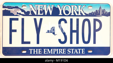 New york empire state license plate usa stock photo for Free fishing license ny
