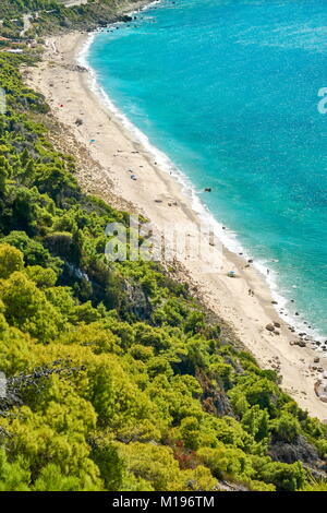 Pefkoulia Beach, Lefkada Island, Greece - Stock Photo