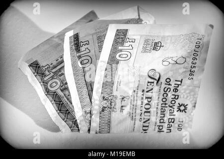 Ten Pounds Note - Stock Photo