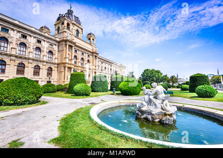 Vienna, Austria. Beautiful park of Maria-Theresien-Platz, Ringstrasse in Wien, Austria - Stock Photo