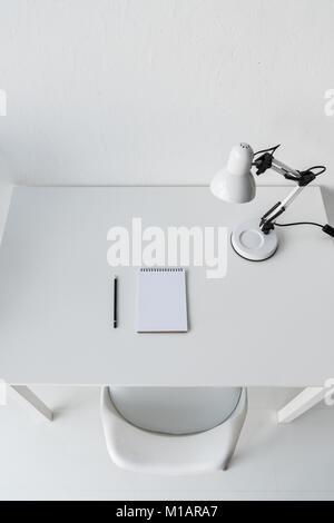 stylish white workplace - Stock Photo