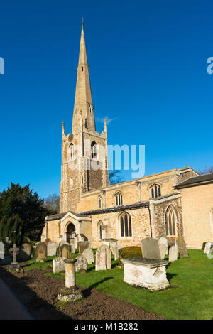The Church of St Margaret, Hemingford Abbots village, Cambridgeshire, England, UK. - Stock Photo