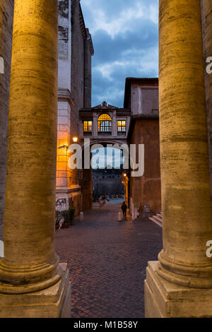 Via del Campidoglio. Alleyway streets. Rome, Italy. - Stock Photo