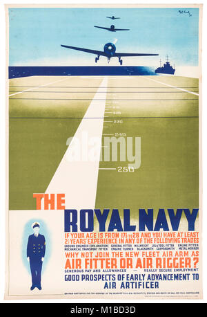 British World War II propaganda poster - Stock Photo