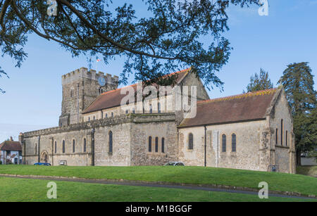 St Peter's Anglican Parish Church, a Grade I listed ancient church, in the British market town of Petersfield, Hampshire, - Stock Photo