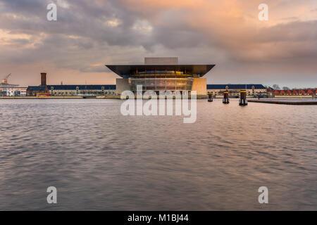 COPENHAGEN, DENMARAK- February 02, 2017: View of the Copenhagen Opera House. The national opera house of Denmark, - Stock Photo