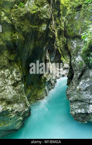 Tolmin gorge in Triglav National Park, Slovenia - Stock Photo