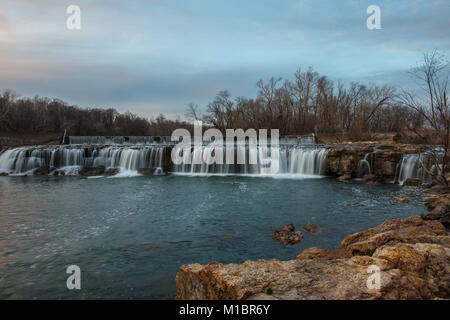 Grand Falls waterfall in Joplin, Missouri - Stock Photo