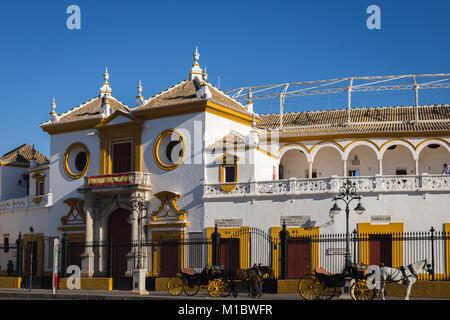 Bullring La Maestranza, Seville, Andalusia, Spain. - Stock Photo